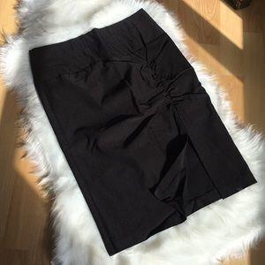 Charlotte Russe Black Office Skirt